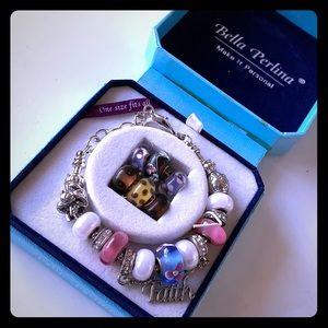 "Bella Perlina bracelet (says ""faith"")"